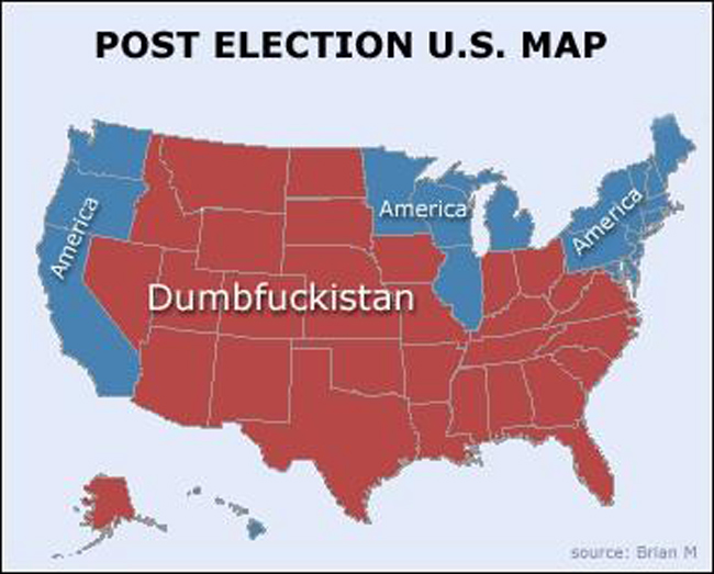 U. S. Post-2014 Election Map
